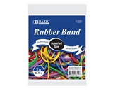 BAZIC 2 Oz./ 56.70 g Assorted Sizes and Colors Rubber Bands