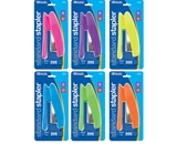 BAZIC Bright Color Standard (26/6) Stapler with 500 Ct. Staples