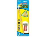 BAZIC 3 #2 The First Triangle Jumbo Yellow Pencil with Sharpener
