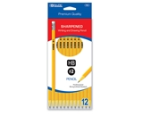 BAZIC Pre-Sharpened #2 Premium Yellow Pencil (12/Pack)