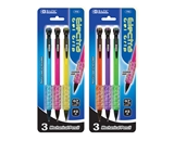 BAZIC Electra 0.7 mm Fashion Color Mechanical Pencil with Gel Grip (3/Pack)
