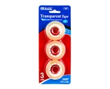 BAZIC 3/4 X 1000 Transparent Tape Refill (3/Pack)