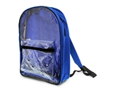 15 Royal Blue Clear Front Backpack