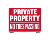 BAZIC 9 X 12 Private Property No Trespassing Sign