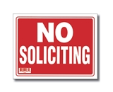 9 X 12 No Soliciting Sign