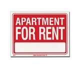 9 X 12 Apartment For Rent Sign