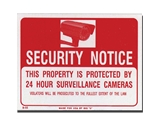 9 x 12 Security Notice Sign