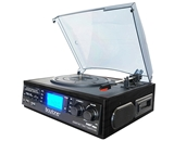 Boytone BT-19DJB-C MULTI RPM TURNTABLE WITH SD/AUX/USB/RCA/3.5mmCONNECTIVITY ENCODE VINYL, RADIO & CASSETTE TAPE TO MP3 AND ENJOY MP3 OR WMA PLAYBACK ON USB OR SD