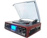 -Boytone BT-19DJM-C MULTI RPM TURNTABLE WITH SD/AUX/USB/RCA/3.5mmCONNECTIVITY ENCODE VINYL, RADIO & CASSETTE TAPE TO MP3 AND ENJOY MP3 OR WMA PLAYBACK ON USB OR SD.-