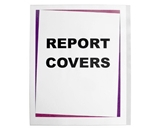 C-Line Clear Polypropylene Report Covers, For Use with Slide--N-Grip Binding Bars, 8-1/2 x 11 Inches