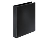 Cardinal BasicSelect Round Ring Binder, 1 Inch Capacity, Letter Size, Black (72711)