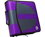Case-it Locker Zipper Dual Binder, 2 Sets of 1.5-Inch Rings with Boosters, Purple, Binder Shell Only, LKR-Dual-02-PUR