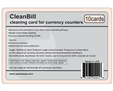 Cassida CleanBill for Currency Counters