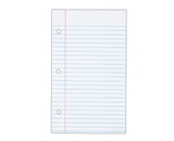 TOPS Notebook Filler Paper, College Ruled, 8.5 x 5.5 Inches, Hole Punched, Heavyweight, 100 Sheets/Pack (62304)