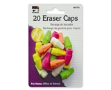 Charles Leonard Eraser - Caps - Neon - Assorted - 20/Card, 80792
