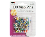 Charles Leonard Pins - Map - 1/8- Head - 100/Card, 21118
