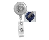 Clear Badge Reel (Translucent) w/ Clear Vinyl Strap & Swivel Spring Clip. 2120-7621