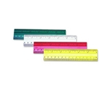 CLI - Ruler, 6-, Beveled Edges, Plastic, Assorted, Sold as 1 Each, LEO 80640