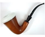 Collector-s Choice Quality Briar Wax Berry Porcelain Calabash Sherlock Holmes Rohan Pipe New- Lz-293