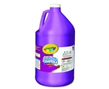 Crayola 54-3128-040 Paint, 128oz, Tempura, Washable, Violet, 1 Unit