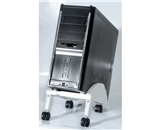 Kantek CS250G Angled CPU Stand with Casters - Gray