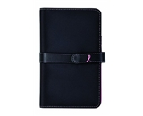 Day-Timer Pink Ribbon Planner Starter Set, Pocket Size, 4.625 x 7.25 Inches, Black Microfiber (D89245)