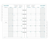 Day-Timer Simply Stated 2-Page-Per-Month Desk Calendar Refill with Tabs, Sunday Start, January - Decem