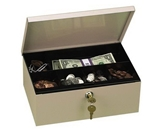 Deep Steel Cash Drawer, 11 1/4-x7 1/2-x4-, Pebble Beige (PMC04971) Category: Cash Boxes and Trays