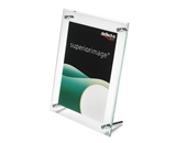 deflect-o Superior Image Beveled Edge L-Frame Base Desk Sign Holder, Acrylic, 8.5 x 11 Inches (799693)