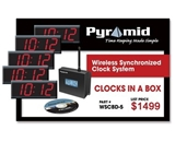 Pyramid?s Clocks in a Box Digital Bundle - Wireless Synchronized Clock System