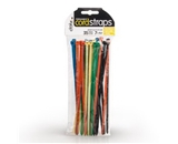 Dotz Permanent Cord Straps for Cord and Cable Management, 35 Count, Assorted Colors (PCS232MC35-C)