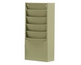 Durham 403-54 Putty Cold Rolled Steel 5 Contour Pocket Vertical Literature Rack