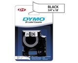 DYMO 16956 D1 Permanent Polyester Label Tape, Black on White, 3/4- x 18-