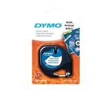 DYMO Labeling Tape, LetraTag Labelers, Plastic, 1/2-x13-, Black on White