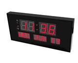 eHealthSource Digital LED Calendar Clock, 15 3/4- Day and Date | Large Digital Clock | LED Digital Clock | Shelf or Wall Mount By Metro Fulfillment House