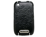 Executive Ed Hardy Faceplate for BlackBerry Curve 8520 - Love Kills Slowly - Black