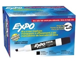 Expo Low Odor Chisel Tip Dry Erase Markers, 12 Black Markers (80001)