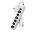 FEL99027 - Six-Outlet Heavy-Duty Metal Power Strip