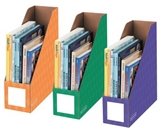 Fellowes 3-Pack Magazine File Holders, 4 by 11 by 12-1/4-Inch, Purple/Green and Orange