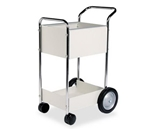 Fellowes 40924 Steel Mini Mail Cart - 39-1/4-H x 20-1/2-W x 26-D
