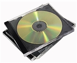 Fellowes 98330 NEATO Slim Jewel Cases, Clear/Black, 50-Pack