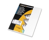 Fellowes Binding Covers Expressions Grain, Oversize, White, 50 Pack (52127)