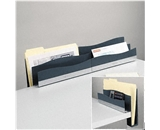 FELLOWES MFG. CO. Desk Edge File, Polystyrene, 12 1/4w x 3 1/2d x 8 1/4h, Slate Gray