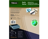 Fellowes Earth Series Recyclable Binding Covers, Letter Size, Clear, 50 Per Pack (5240001)