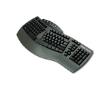 Fellowes Ergonomic Split-Design Keyboard with Antimicrobial Protection, 117 Keys, Black