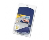 Fellowes Gel Mouse Pad with Wrist Rest, 6-1/4 x 10-1/8, Sapphire/Black, Jewel Tones