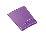 Fellowes Gel Wrist Support With Attached Mouse Pad, Purple - Sold as 2 Packs