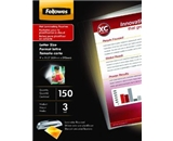 Fellowes Glossy Laminating Pouch, Letter Size, 150 Per Pack (5200509)