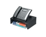 Fellowes Inc : Phone Stand, w/3- Storage Space, 13-x9-1/4-x4-3/8-, Black - Sold as 2 Packs of - 1