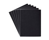 Fellowes Linen Texture Presentation Covers, 8 3/4 Inch X 11 1/4 Inch, 200 Per Pack, Black (52115)